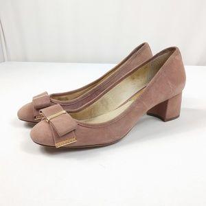 Michael Kors Blush Suede Chunky Heels Beautiful!